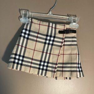 Burberry Nova Check wool blend girls pleated skirt